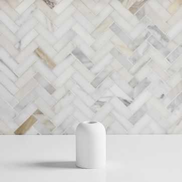 Modern Resin Stone Toothbrush Holder, White - West Elm