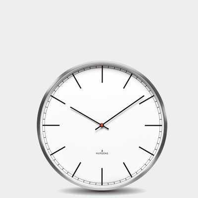 Fifield Stainless Steel Index Wall Clock - Wayfair