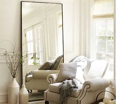 "Berke Oversized Floor Mirror, 36"" x 78"" - Pottery Barn"