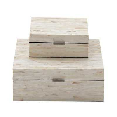 Leeja 2 Piece Mother of Pearl Inlay Decorative Box Set - AllModern