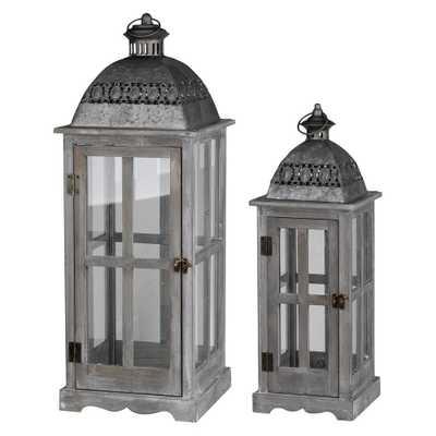 Urban Scape Lantern Set Silver Gray 2pk - A&b Home - Target
