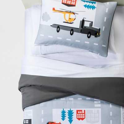 Twin Legendary Lanes Comforter Set - Pillowfort, Gray - Target