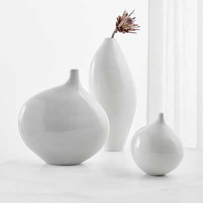 Dove Grey Vases, Set of 3 - Crate and Barrel