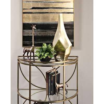 Glam Golden Floor Vase - AllModern