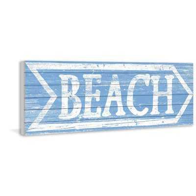 'Beach This Way' Textual Art on Wood - Wayfair