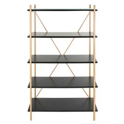 Safavieh Rigby Black/Gold 5-Tier Etagere - Home Depot