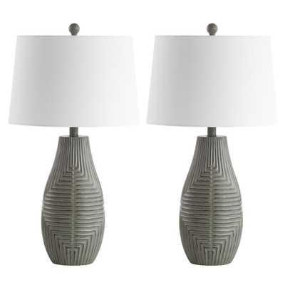 Safavieh Jairo 27.5 in. Faux Wood Table Lamp (Set of 2) - Home Depot