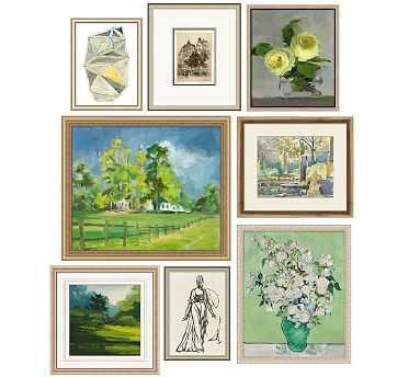 Entryway Art Gallery in a Box, Set of 8 - Pottery Barn