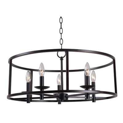 Kenroy Home Arlen 5-Light Bronze Chandelier - Home Depot