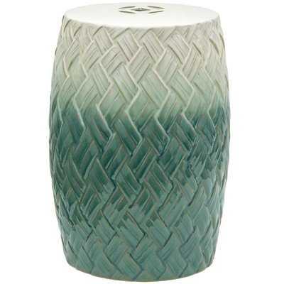 Sobieski Woven Design Porcelain Garden Stool - AllModern