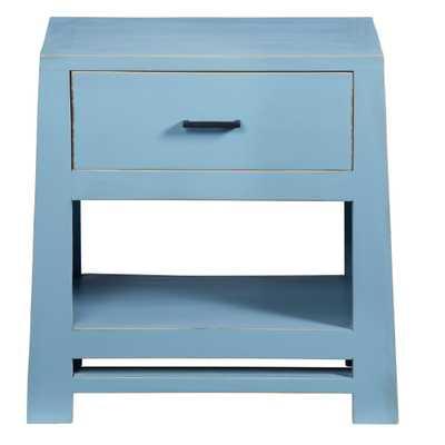 Progressive Furniture Carolina 1-Drawer Cornflower Blue Nightstand - Home Depot