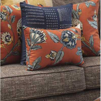 Septak Auretta Persimmon Lumbar Pillow - Wayfair