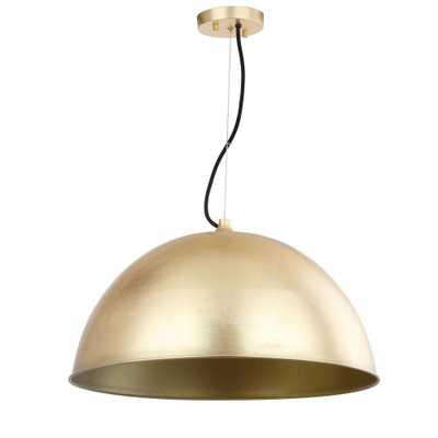 Safavieh Archer Dome 1-Light Gold Leaf Pendant - Home Depot