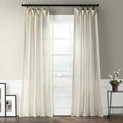 Shattuck Aruba Striped Sheer Rod Pocket Curtain Panels - AllModern