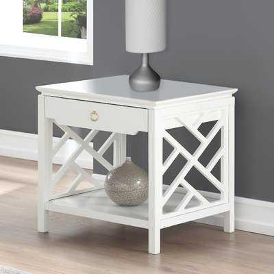 Adam End Table with Storage - Wayfair