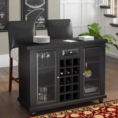 Hedon Bar Cabinet with Wine Storage - Wayfair