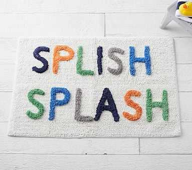 Splish Splash Bath Mat, Multi - Pottery Barn Kids
