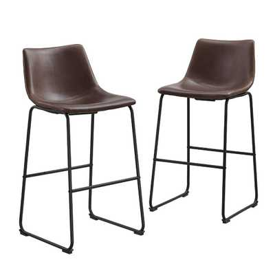 Wasatch 25 in. Brown Bar Stool (Set of 2) - Home Depot