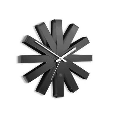 Umbra Ribbon 12 in. Black Wall Clock - Home Depot