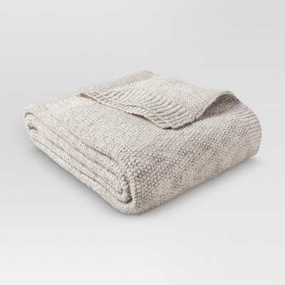 Sweater Knit Blanket Hot Coffee & Sour Cream (Full/Queen) - Threshold, Sour Cream/Hot Coffee - Target