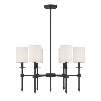 Filament Design 6-Light Matte Black Chandelier - Home Depot