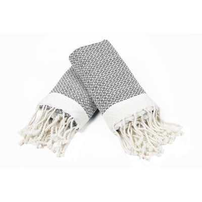 100% Cotton Diamond Weave Tassled Hand Towel - Birch Lane