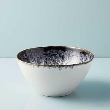 Reactive Glaze Tall Bowl, Black + White - West Elm
