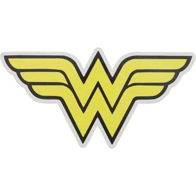 Applied Icon WonderWoman Outdoor Logo Graphic- Large, Yellow - Home Depot