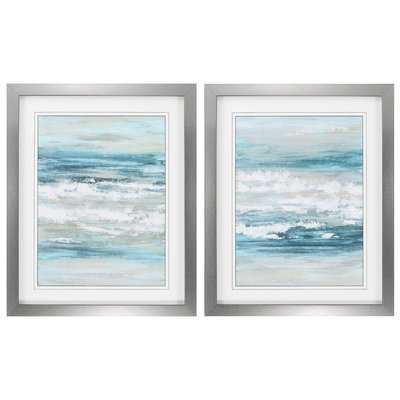 At The Shore 2 Piece Framed Painting Print Set - Wayfair