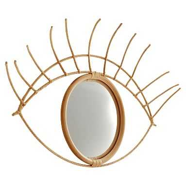 Eye Mirror, Natural - Pottery Barn Teen