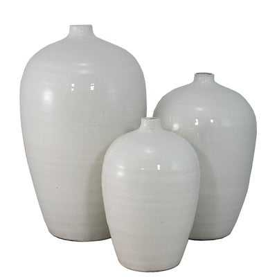 3 Piece White Table Vase Set - Wayfair