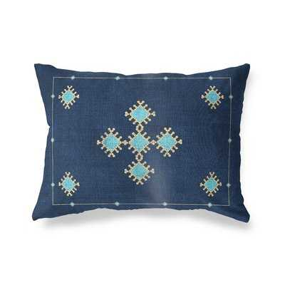 "12"" x 16"" Cotton Geometric Lumbar Pillow - Wayfair"