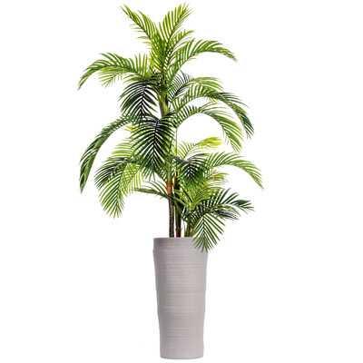 Fiberstone Floor Palm Tree in Planter - Wayfair