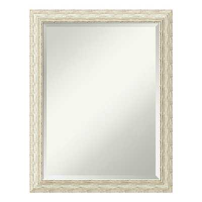 Cape Cod White Wash Wood 22 in. x 28 in. Distressed Bathroom Vanity Mirror, Whitewash - Home Depot