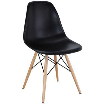 Pyramid Black Dining Side Chair - Home Depot