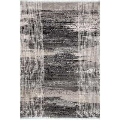 nuLOOM Vintage Abstract Fringe Cammie Gray 8 ft. x 10 ft. Area Rug - Home Depot