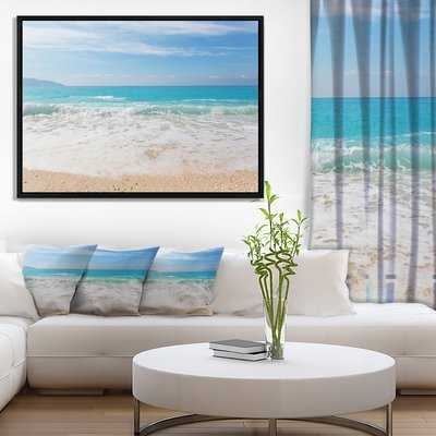 'White Waves Kissing Beach Sand' Photograph Print - Wayfair