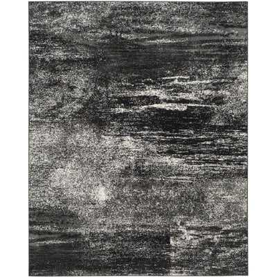 Costa Mesa Black, Silver/White Area Rug, 6' x 9' - Wayfair