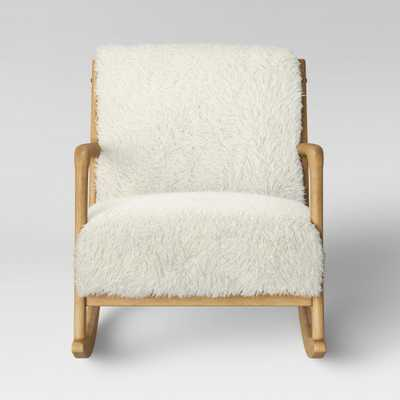 Esters Wood Arm Chair Sherpa White - Project 62 - Target