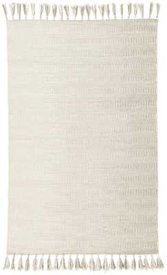 Flats Handmade Geometric Ivory/ Light Gray Area Rug (9' X 12') - Collective Weavers