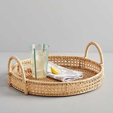 Rattan Round Tray - West Elm