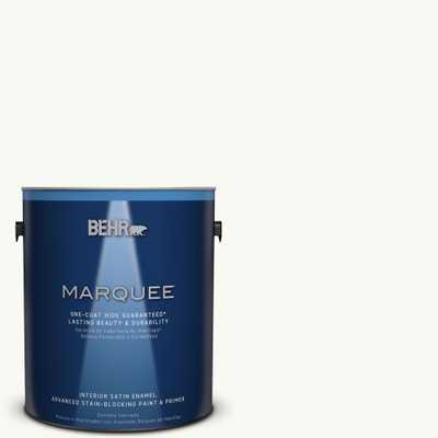 BEHR MARQUEE 1 gal. #PR-W15 Ultra Pure White Satin Enamel Interior Paint and Primer in One - Home Depot