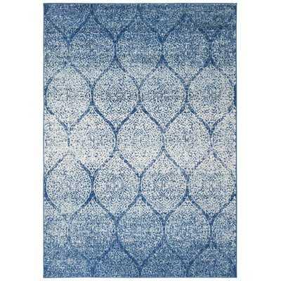 Valeria Navy/Blue Area Rug - Wayfair