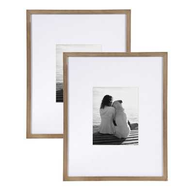 DesignOvation Gallery 16x20 matted to 8x10 Rustic Brown Picture Frame Set of 2 - Home Depot
