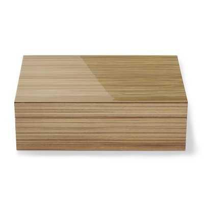 Exotic Wood Jewelry Box, Blonde Zebrawood, Medium - Williams Sonoma