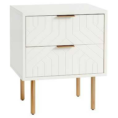 Jennings Statement Nightstand, Simply White, In-Home - Pottery Barn Teen