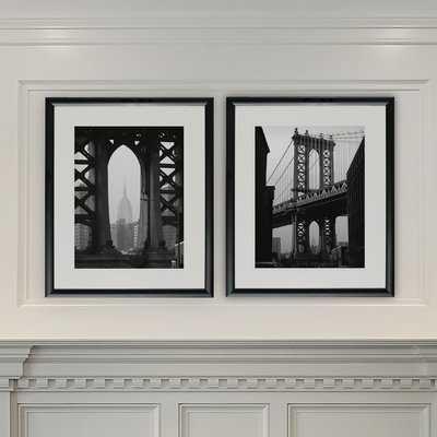 'New York Crossing' 2 Piece Framed Photographic Print Set - Wayfair