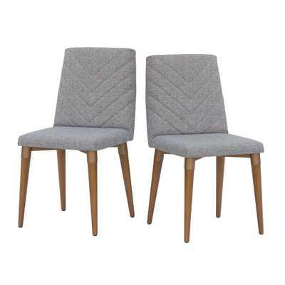 Manhattan Comfort Utopia Gray Dining Chair (Set of 2), Grey - Home Depot