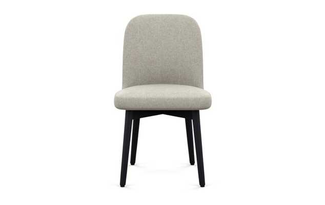 Dylan Dining Chair with Dune Fabric and Matte Black legs - Interior Define