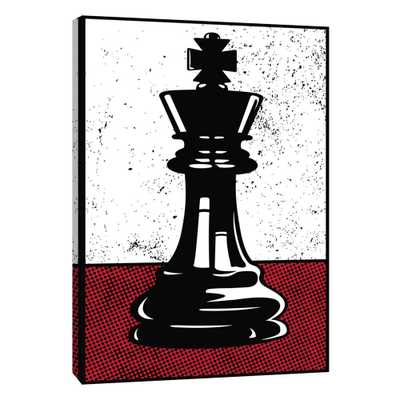 12.in x 10.in ''Chess King'' Printed Canvas Wall Art, Multicolored - Home Depot